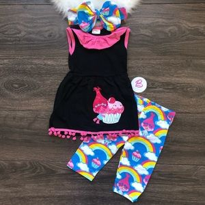 Other - Girl Boutique Trolls Princess Poppy Outfit Set